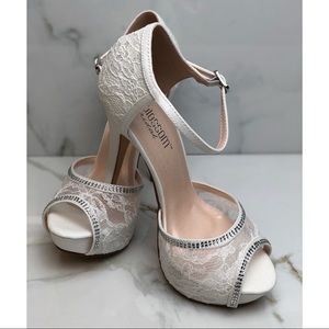 Shoes - White High Heels